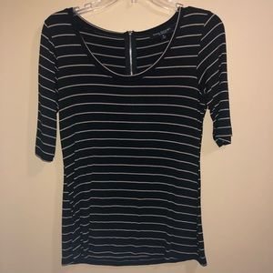 Black and Tan striped tee size M